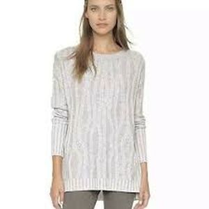 Vince Waterfall Ribbed Cashmere Blend Sweater